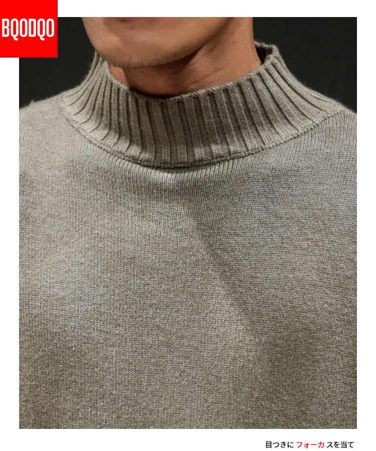 Weiß Gestrickte Winter Warm Rollkragen Pullover Männer Jumper Slim Fit Casual Pullover Männlichen Streetwear Klassische Pullover PLUS GRÖßE 5XL