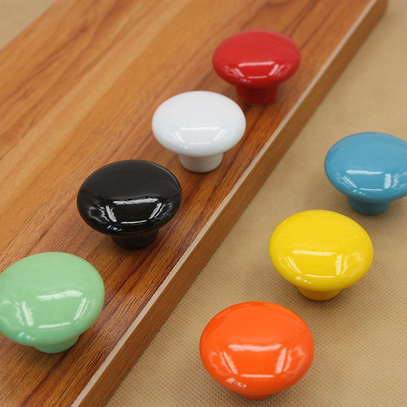 Ceramic Cabinet Knob Colorfull Children Handles For Furniture Drawer Knobs Cupboard Pulls