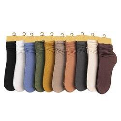 1 пара, Лидер продаж, осенне-зимняя одежда, Симпатичные хлопковые однотонные длинные мягкие носки в школьном стиле, запас изгибов для женщин ...