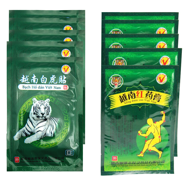 80Pcs Vietnam White Tiger Red Tiger Balm Plaster Patchs Back Body Relaxation Herbal Pain Relief  Medical Plaster Ointment Joints