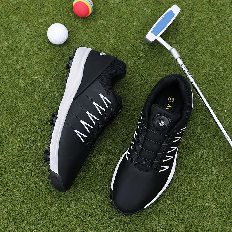 2020 New Brand Mens Professional Golf Shoes Outdoor Waterproof Golf Trainers Sneakers Black White Anti Slip Athletic Shoes