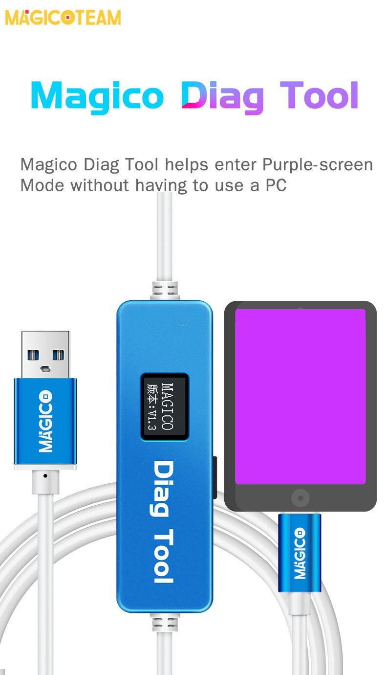 Magico Diag DFU инструмент для iphone ipad введите фиолетовый экран режим распаковки WiFi чтение данных изменение записи SN без NAND удаление