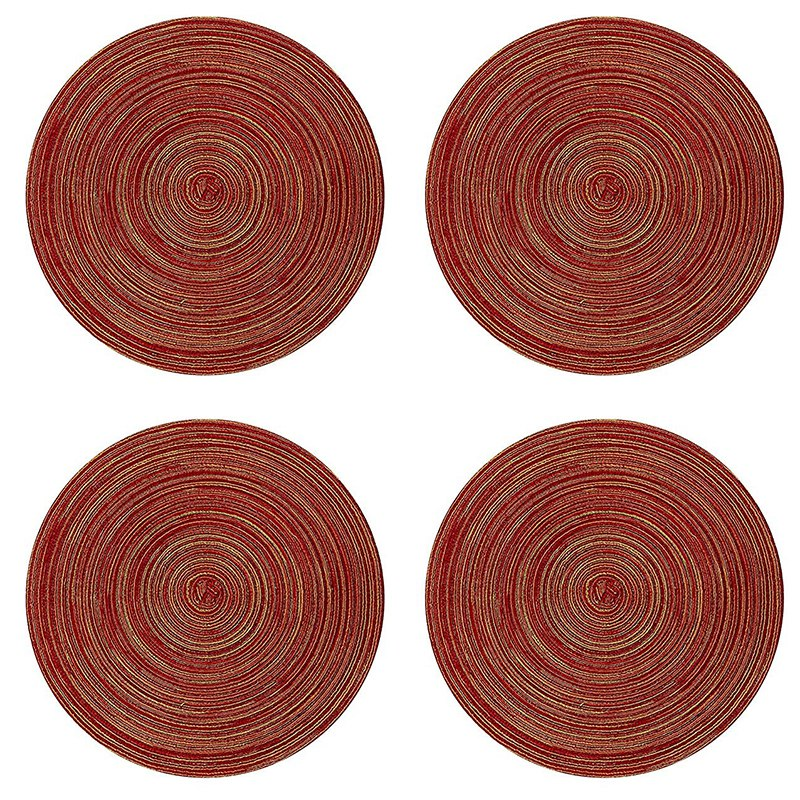 Red Round Placemat Set of 4