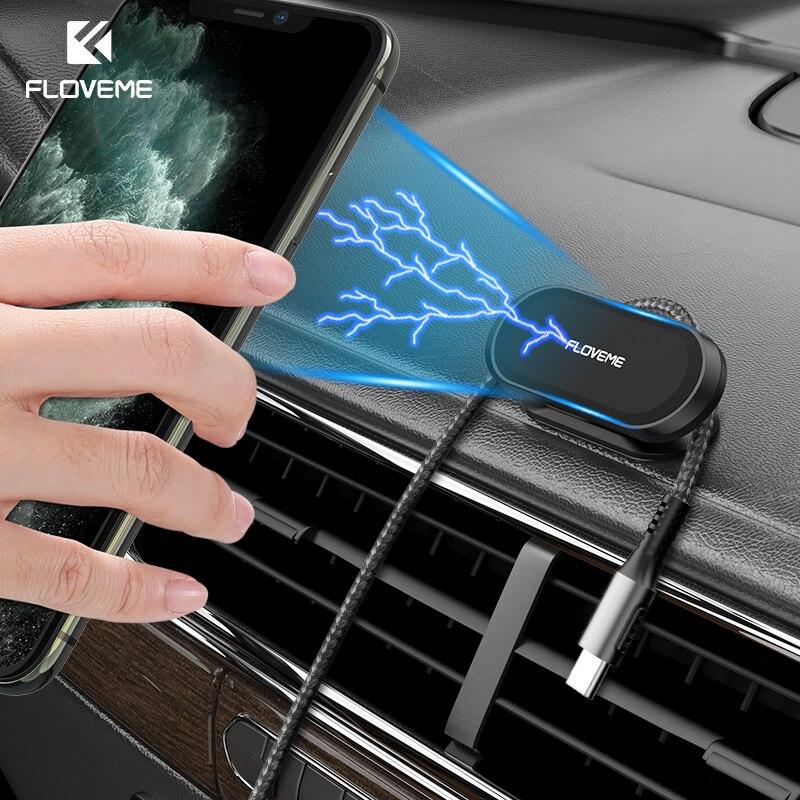 FLOVEME support de téléphone magnétique pour voiture 360 degrés Mini bande forme support métal aimant GPS voiture support mur bureau chambre support
