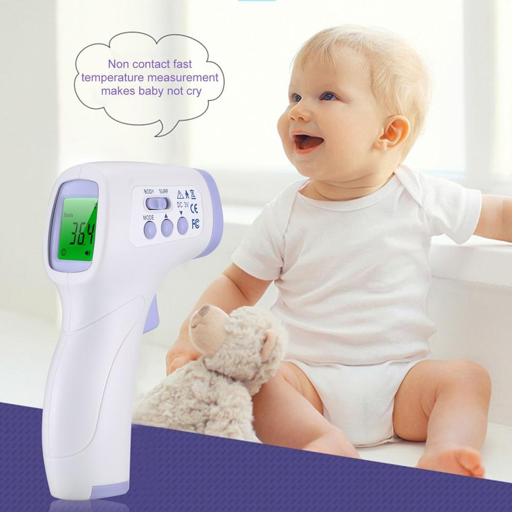 Baby Thermometer Infrared Digital LCD Body Measurement Forehead Ear Non-Contact Adult Body Fever IR Children Measurement Device