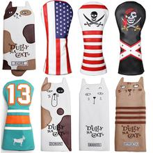 Headcover Golf-Driver-Cover Cartoon-Style with Tail for Man Women Lovely