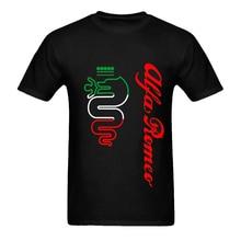 High Quality Tees Crew Neck Men Short-Sleeve Details About T-Shirt Alfa Romeo Auto Car Size S XXXL Premium Tee Shirts