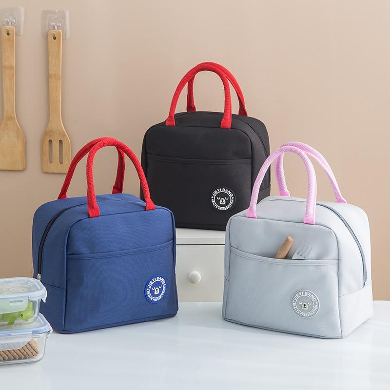 Bento Box Bag Hand Container Cartoon Oxford Cloth Waterproof Bento Box Bag Insulated Cold Insulation