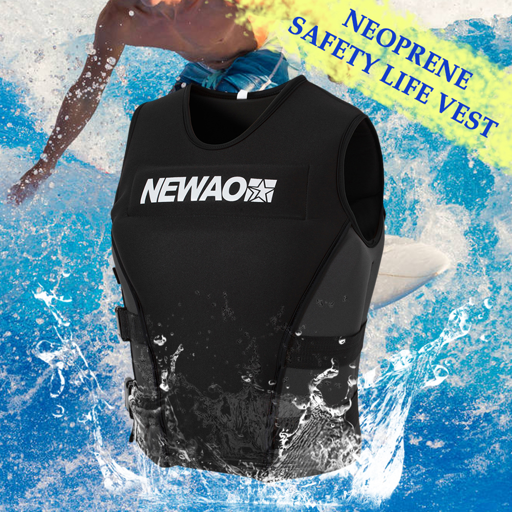 Professional Adults Life Jacket Neoprene Safety Life Vest For Water Ski Rescue Drifting Wakeboard Fishing Swimming Life Jacket