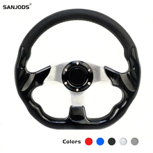 Drift Steering Wheel Racing Type High Quality Aluminum+pu Universal 13/14 Inches 350mm Moving Rudder