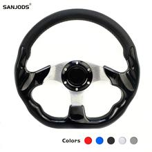 цена на Drift Steering Wheel Racing Type High Quality Aluminum+pu Universal 13/14 Inches 350mm Moving Rudder