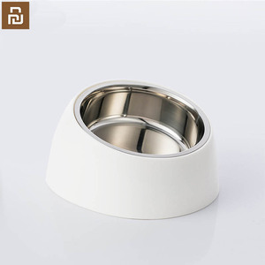 Image 1 - Xiaomi mi home pet tilt basin double liner tilt design non slip grip health material cat dog universal pet dog bowl