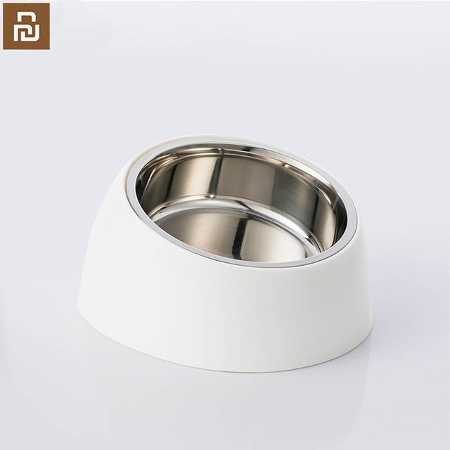 Xiaomi mi home pet tilt basin double liner tilt design non slip grip health material cat dog universal pet dog bowl
