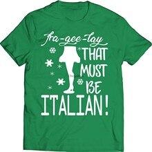 Fra-gee-ley que deve ser natal italiano engraçado t camisa história de natal
