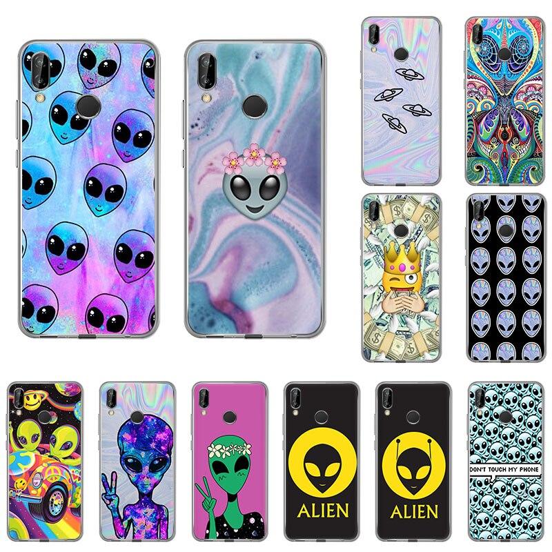 Cute Alien UFO Space Cartoon Silicone Soft Phone Case For Huawei Honor 20Pro 9X 10 8S 8A 20I 8X 9Lite 7A 10I 7S 9I 9 View 30 20