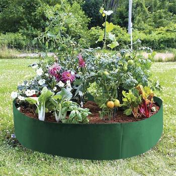 1PC okrągły ogród powiększająca torba ogród jardin jardim jardinage ogrod podniesione podłoże dla roślin ogrodowa sadzarka do kwiatów podwyższony pojemnik na warzywa L * 5 tanie i dobre opinie Breathable Felt Fabric Plant Grow Bag