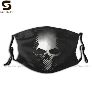 Ghost Recon Mouth Face Mask Skull Grw Facial Kawai Funny with 2 Filters for Adult