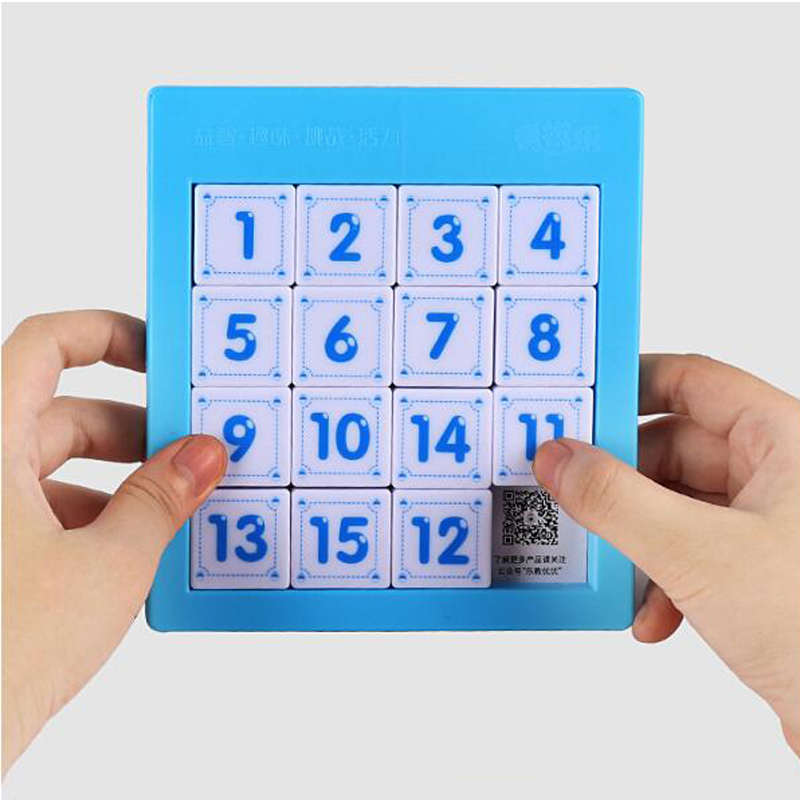 Numbers Sliding Puzzle Tangram Counting Toys Educational  Brain Teaser Smart Games For Kids Children