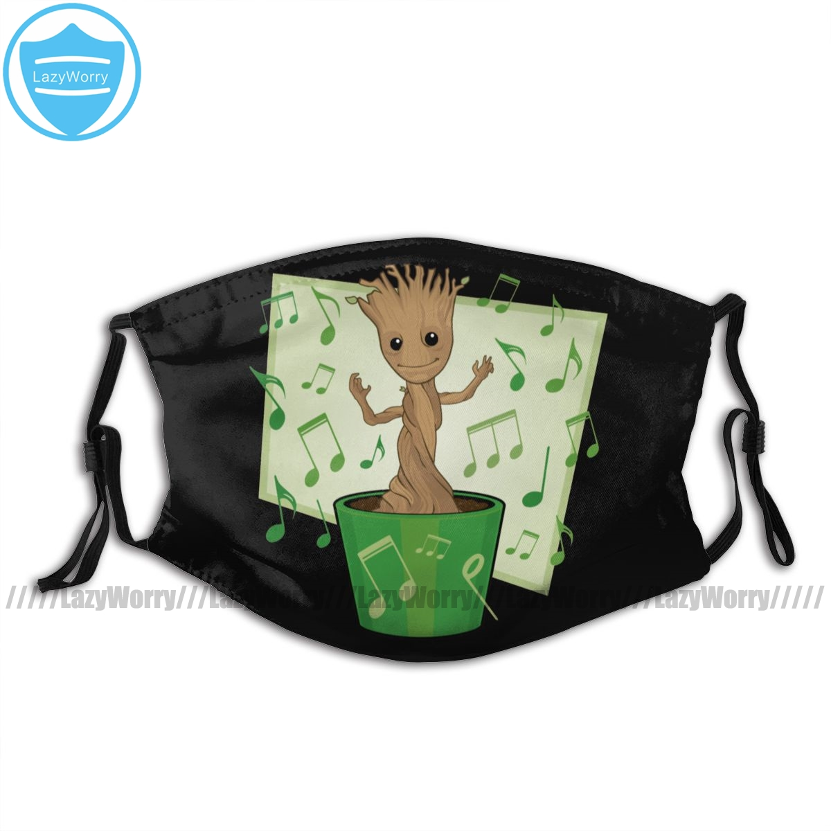 Guardians Of The Galaxy Mouth Face Mask Guardians Of The Galaxy Dancing Groot Facial Mask Kawai Cool With 2 Filters For Adult
