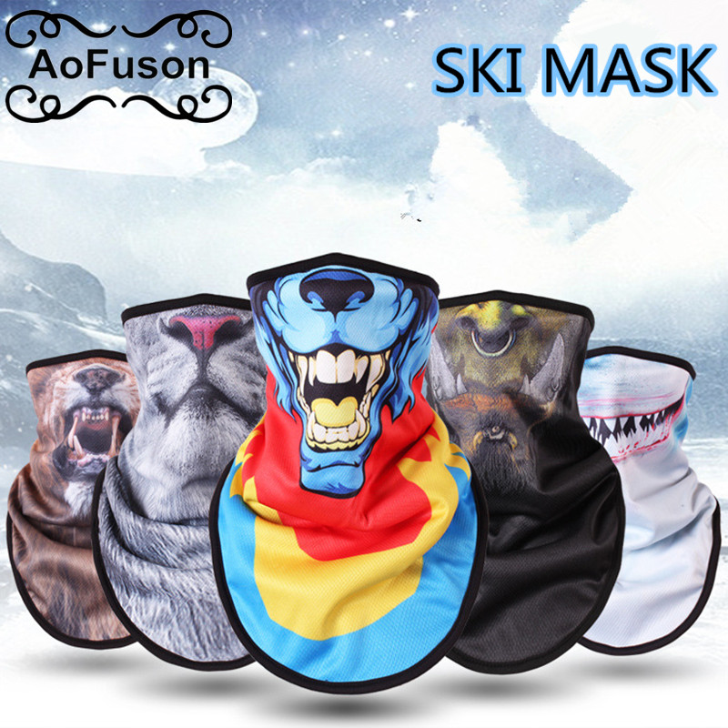 Winter Fleece Ski Scarf . Cycling Snowboard Bandana Headwear Face Cover Triangle Thicken Warm Windproof Bibs Face Mask Scarf