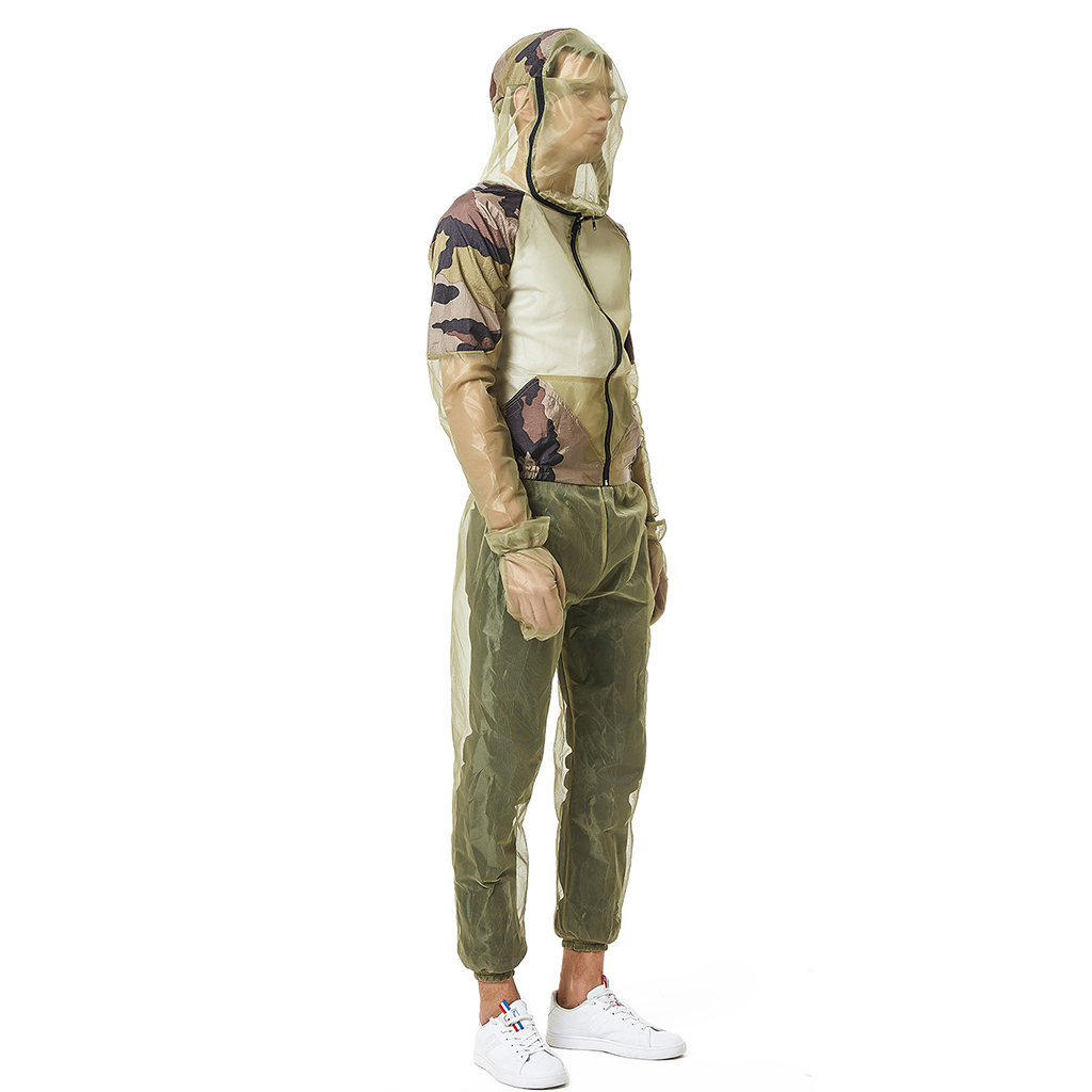 Outdoor Mosquito Bug Mesh Net Jacket Pants Suit Fishing Hiking Protect Costume