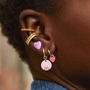 2020 New Luxury Jewelry Micro paving CZ Zircons Stone Small Ear Cuff Clip Hoop Earrings for Women Earcuffs No Piercing