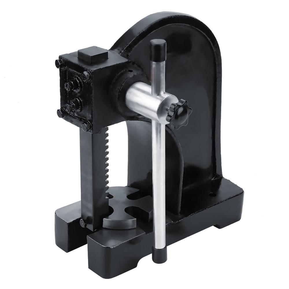1T Carbon Steel Manual Desktop Hand Punch Press Machine Metal Arbor Press Tool    1