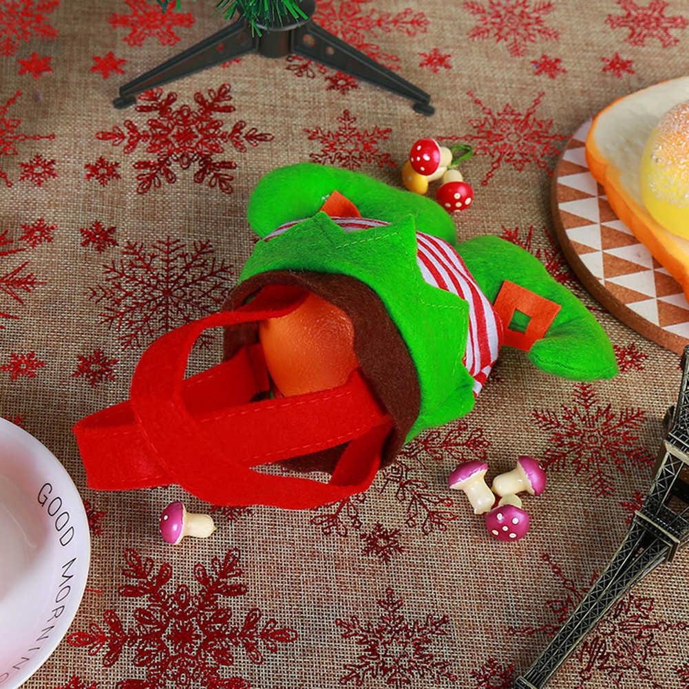 Trwałe Christmas Clown Elf duch przewodnik spodnie cukierki torba na prezent Xmas drzewa wiszące wisiorek dekoracje świąteczne
