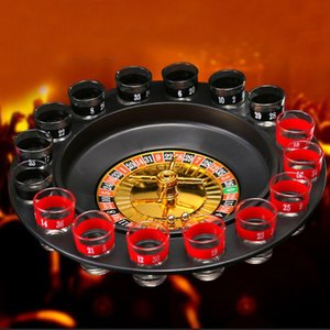 Image 5 - ABKT Novelty  Drink Turntable Toys Russian Roulette Wheel 16 Wine Cups Bar KTV Night Party Entertainment