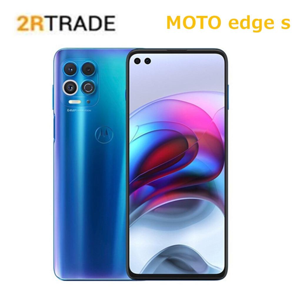 Motorola edge s snapdragon 870 5g smartphone 6.7 lnch ips 64mp câmera wifi 6 5000 mah bateria nfc