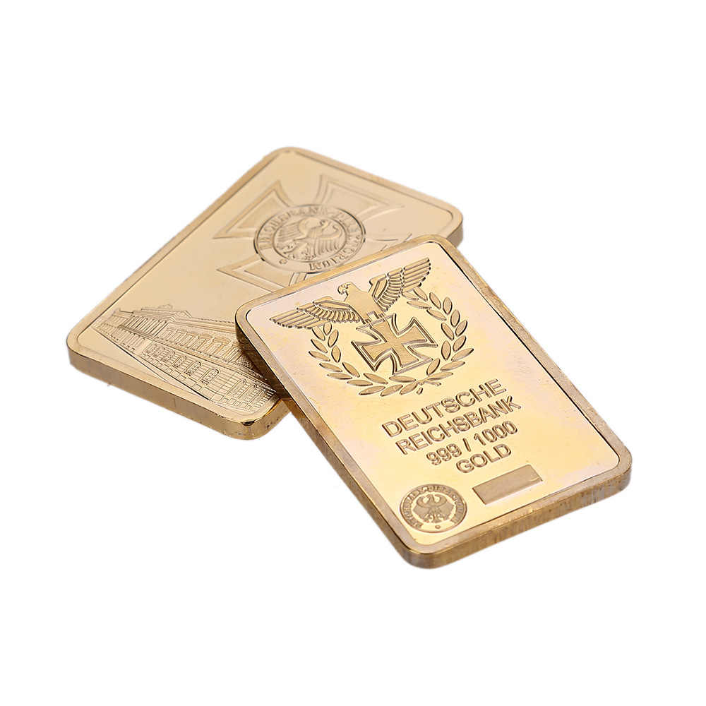 Regalo di affari Per Il 999 Reale Oro Bar Deutsche Reichsbank Gold Bar di Ferro Tedesca Lingotto Bar OZ Aquila Croce Da Collezione