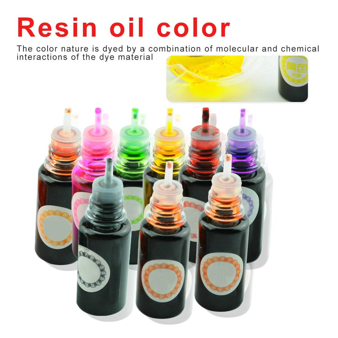 Набор спиртовых чернил для диффузии смолы, 8 цветов, 10 г, жидкий краситель, краситель для творчества и творчества, для изготовления ювелирных...