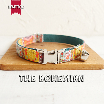 10pcs/lot MUTTCO wholesale handmake beefy timeproof cat collar THE BOHEMIAN creative ethnic style dcat collars 2 sizes UCC050