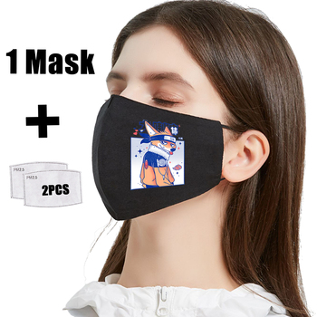 Fox Transformation Cartoons Hip Hop Print Mask PM2.5 Filter Reusable Mouth Mask Anti Dust Washable Masks Bacteria Proof Flu Mask