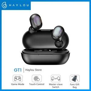Image 1 - Haylou GT1 TWS Touch Control Bluetooth 5,0 наушники спортивные музыкальные Беспроводные наушники с шумоподавлением игровая гарнитура