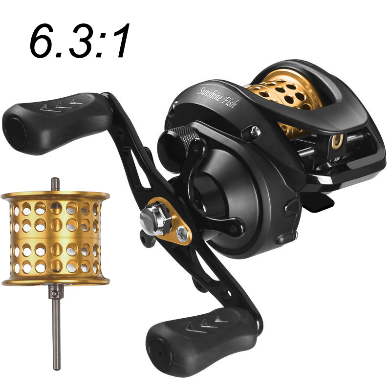 Double-line cup low profile reel bait casting Fishing reel baitcasting Fishing reels 12+1BB 6 .3:1 8kg  Carretilha de pesca
