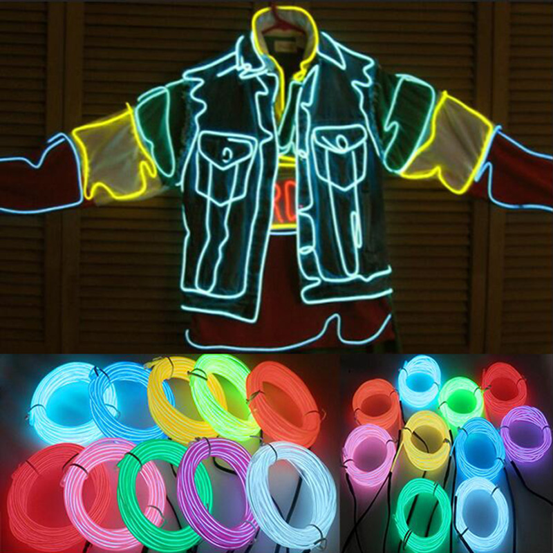 RGB Color Light Up LED Line Figure Flexible For Toy Halloween Party Car Decoration TN88