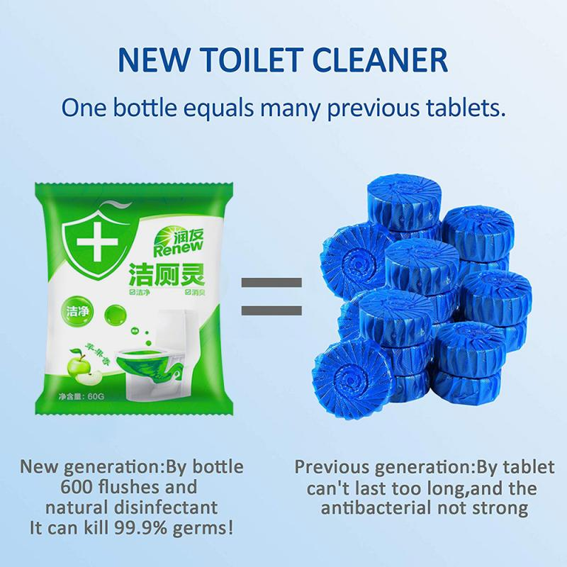 Apple Fragrance Toilet Cleaner Green Bubble Toilet Cleaner Bathroom Cleaning Tool Sink Drain Cleaner Toilet Sewer Odor Remover