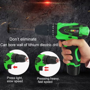 New 12V Rechargeable Multifunction Wireless Electric Drill Electric Screwdriver Drill With Lithium Battery Drills