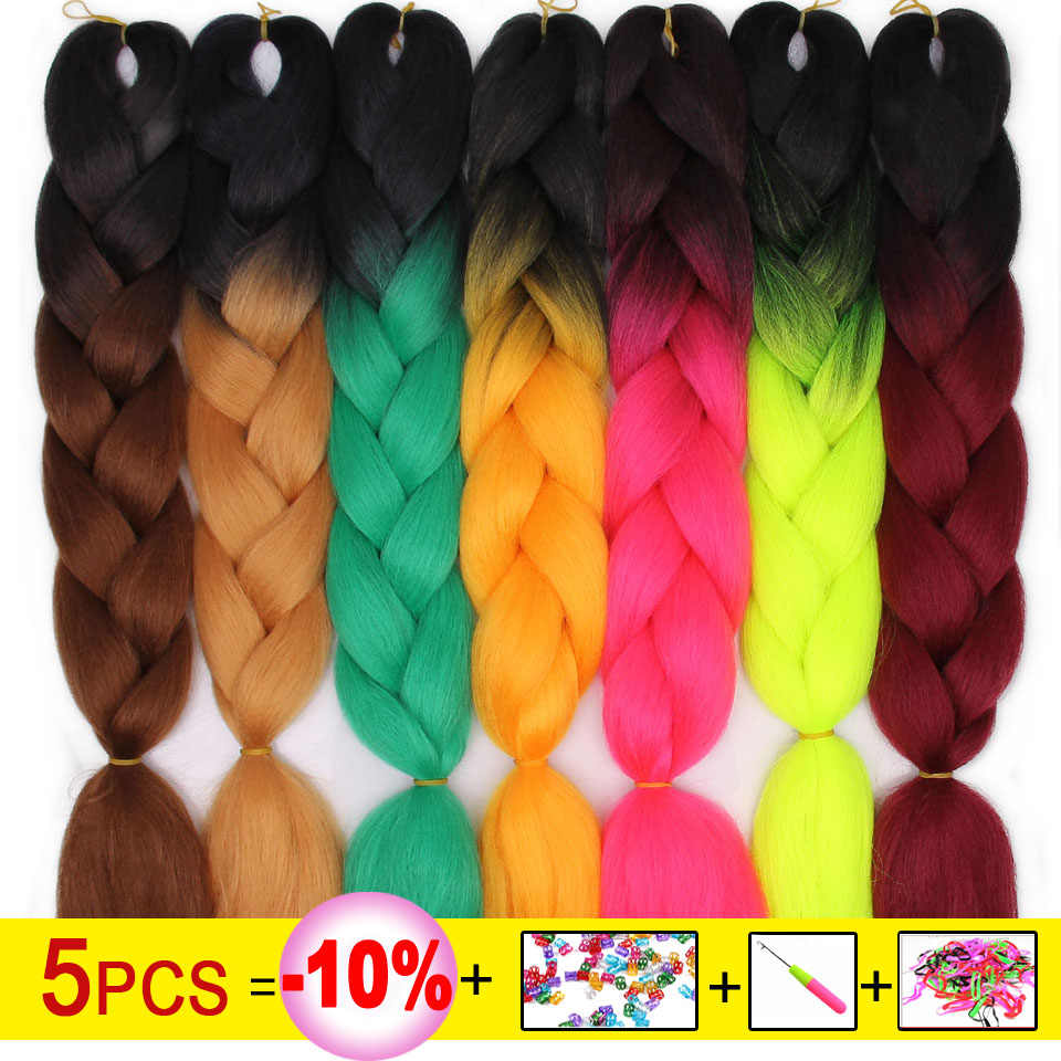 Весна Солнечный свет 24 ''синтетические огромные косички волос Длинные косички пряди Омбре крючком косички волос для женщин розовый серый