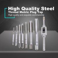 7 pces/5 pces M3-M12 rosqueamento rosca métrica plug torneiras máquina mão torneira conjunto mão moagem escultura ferramenta com mão torneira chave