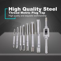 7pcs/5pcs M3 M12 Tapping Screw Thread Metric Plug Taps Machine Hand Tap Set Hand Grinding Carving Tool with Hand Tap Wrench|Wrench| |  -