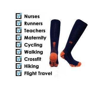 Image 5 - Calcetines de compresión para correr, para hombre y mujer, 20 30mm Hg, para maratón, ciclismo, fútbol, venas varicosas