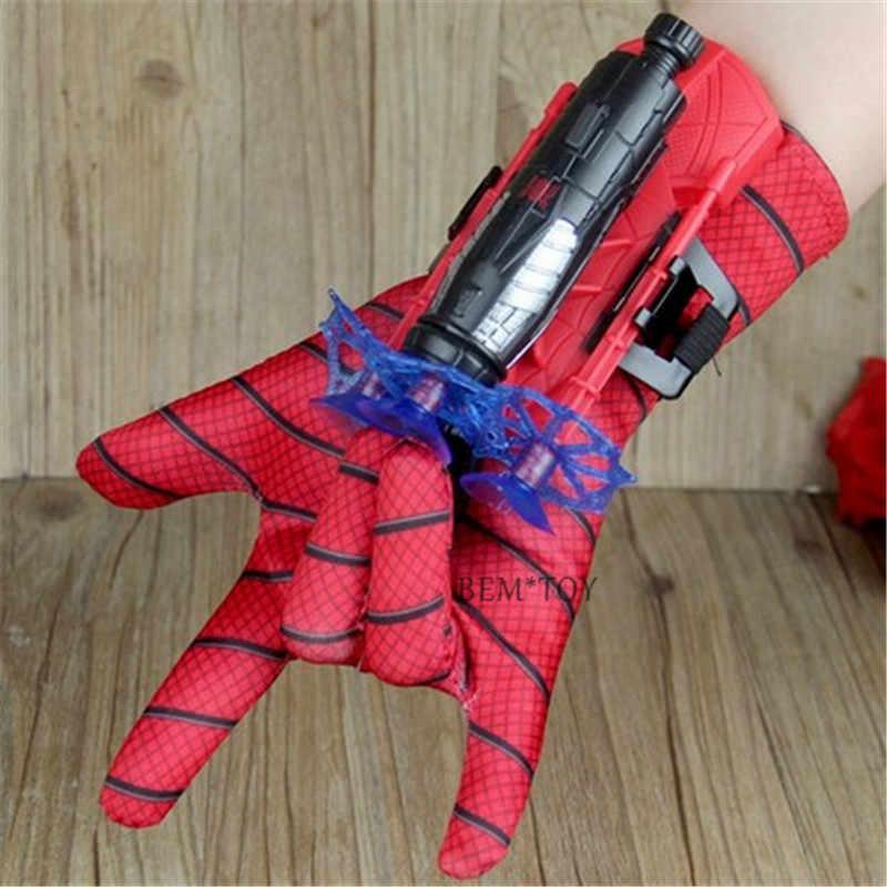 2019 nuevo hombre araña juguetes de plástico Cosplay guante de Spiderman juego de iniciador con la caja Original divertido juguetes para niños Año Nuevo cumpleaños Gi
