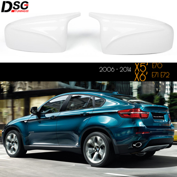 Glossy White Replacement Mirror Covers for BMW 2006 - 2014 X5 E70 X6 E71 E72 F95 F96 X5M X6M Design Great Fitment