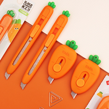 48 pcs/lot Creative Carrot Strawberry Portable Utility Knife Mini Paper Cutter Razor Blade Office school supply Stationery gift