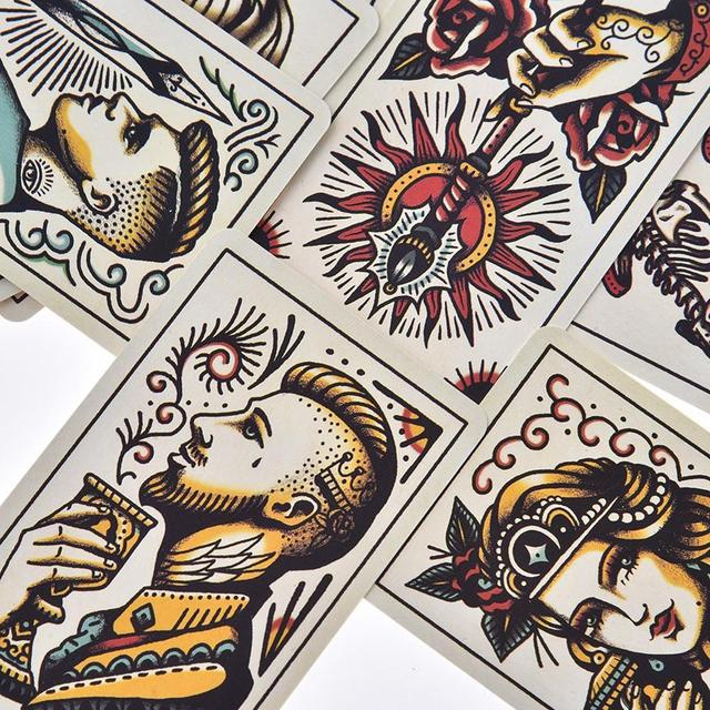 78pcs Tattoo Tarot Cards Full English Board Game Tarot Card Deck Family Party Entertainment Game Playing Cards PDF Instructions 5