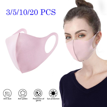 Windproof Anti-Dust Bacteria Masks Proof Flu Face Masks Care Reusable Cotton Mouth Mask Anti-Pollution Washable Mask D40