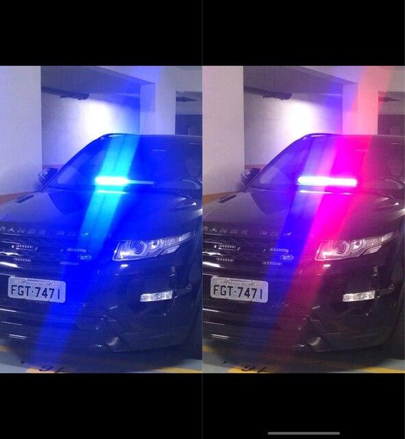 Szyba przednia 80 światło stroboskopowe Led ostrzeżenie lampa błyskowa sygnał awaryjny strażak policja Beacon samochód ciężarowy wysoka moc jasna lampa