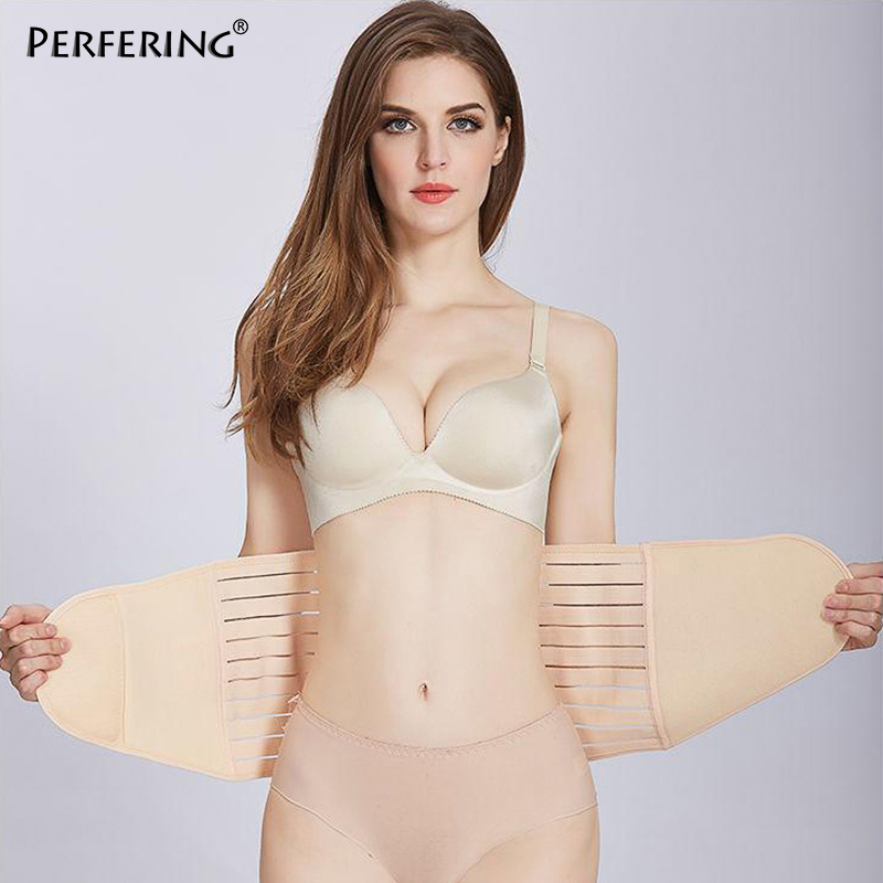Perfering Postpartum Recovery Belt Body Shaper Slimming Belly Band Shapewear Waist Corset Abdomen Non-slip Puerperal  Seamless